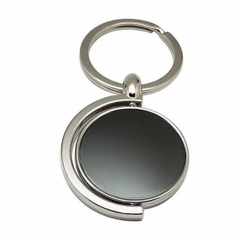 Porte clés métal rond rotatif D4