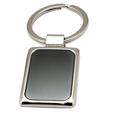 Porte cles métal rectangulaire D3