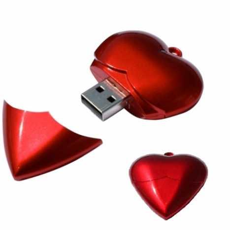USB EN FORME DE CŒUR
